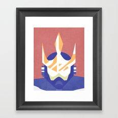 Wave Man Boss Framed Art Print