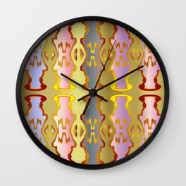 Pattern by different pairs Wall Clock