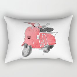 Red moto Rectangular Pillow