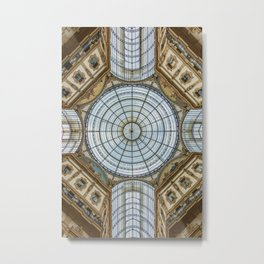 Ceiling of the Galleria Vittorio Emanuele II, Milan Metal Print