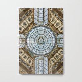 Ceiling of the Galleria Vittorio Emanuele II, Milan Metal Print