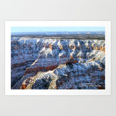 Soaring the Snowy Rim Art Print