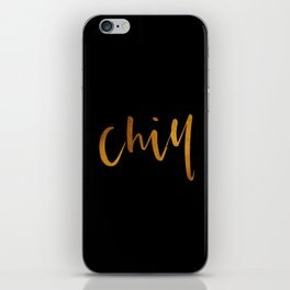 Chill in Gold and Black iPhone Skin