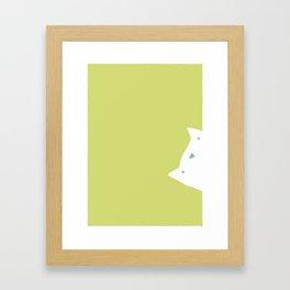Peek-a-mew Framed Art Print