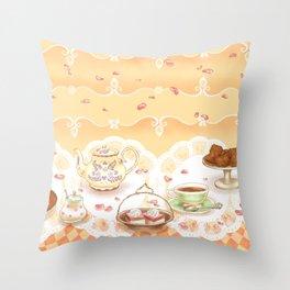 Dutch Tea Party Throw Pillow