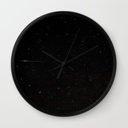 Perseid Meteor Wall Clock