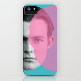 Hemingway - portrait pink and blue iPhone Case