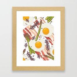 Breakfast pattern Framed Art Print
