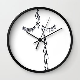 tears for the world Wall Clock