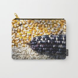 White, yellow and blue corn Carry-All Pouch