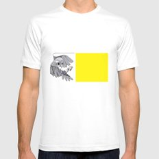 Parrot White SMALL Mens Fitted Tee