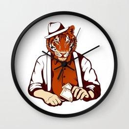 Tiger Poker Face Wall Clock