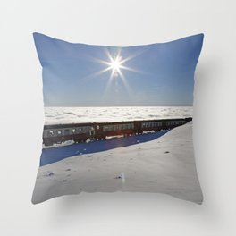 Ride on the clouds Throw Pillow