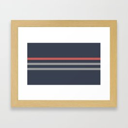 Simple Minimal Lines Framed Art Print
