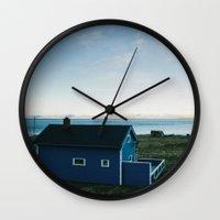 scandinavian Wall Clocks featuring Scandinavian House by A. Serdyuk