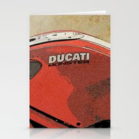 ducati Stationery Cards featuring Ducati Monster by Larsson Stevensem
