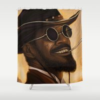 django Shower Curtains featuring Django - Our newest troll by Daniel Inskeep