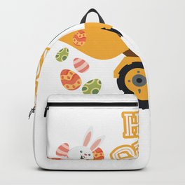 Happy Easter Tractor Gift Boys Kids Backpack