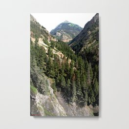 Driving the Spectacular, but Perilous Uncompahgre Gorge, No. 1 of 5 Metal Print