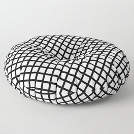 crisscross in black Floor Pillow