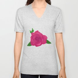 Rosy Roses Unisex V-Neck