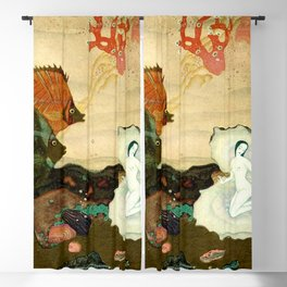 """""""The Birth of the Pearl"""" by Edmund Dulac Blackout Curtain"""