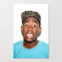 tyler the creator Canvas Prints featuring Tyler The Creator  by Trash Boat