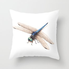 Dragonfly by Lars Furtwaengler | Colored Pencil / Pastel Pencil | 2014 Throw Pillow