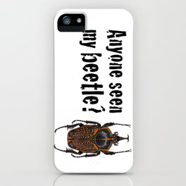 Beetle Search iPhone Case