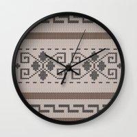 the big lebowski Wall Clocks featuring The Big Lebowski Cardigan  by Marvelis