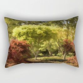 A Walk In The Woods Painting Rectangular Pillow