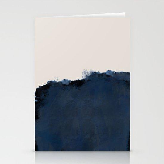 Abstract, blue, beige, indigo by prints_miuus_studio
