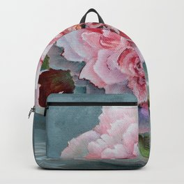 Peony Memories Flower Painting Backpack