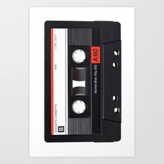 Old School Tape Art Print