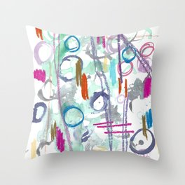 Abstract with Lines and Cercles Throw Pillow