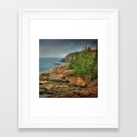 maine Framed Art Prints featuring Maine by Kadwell Enz