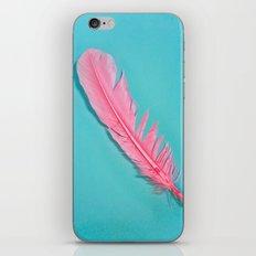 PINK FEATHER iPhone & iPod Skin