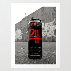 Urban malt liquor Art Print