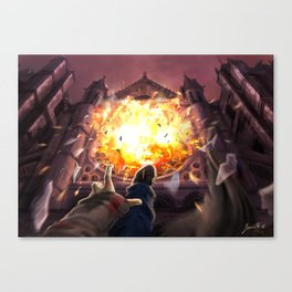 Ballad of fallen angels Canvas Print