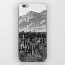 Wild West III - Tucson - Black & White version iPhone Skin