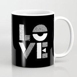Love black and white contemporary minimalist typography design home wall decor bedroom Coffee Mug