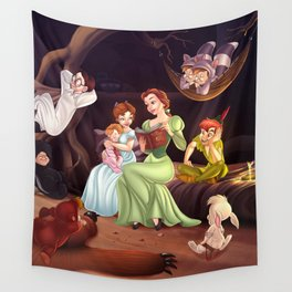 Belle, Wendy and the Lost Boys Wall Tapestry