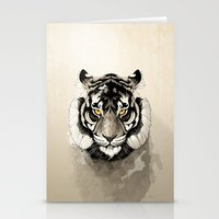 tiger Stationery Cards featuring Tiger by Rafapasta
