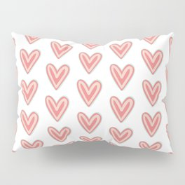 I Heart You in Pink and Coral Pillow Sham