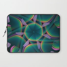 Tumbling patterns, fractal abstract art Laptop Sleeve