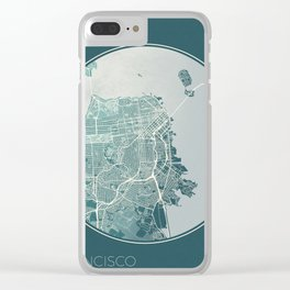 San Francisco Map Planet Clear iPhone Case