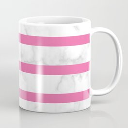 marble stripe pattern pink horizontal Coffee Mug