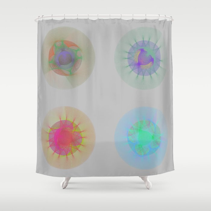 Orbital Mandalas 2x2 Array 1 Astronomy Print Wall Art Shower Curtain By Artastro