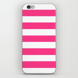 Barbie Pink (2004-2005) - solid color - white stripes pattern iPhone Skin