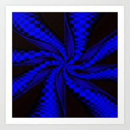 Checkers in Blue.... Art Print